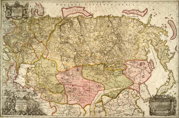 Карта Штраленберга, 1730 г.
