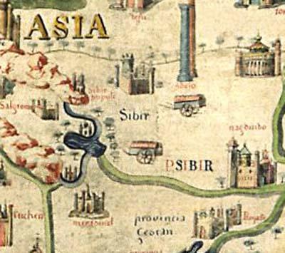Фрагмент карты Фра Мауро, 1457 г.