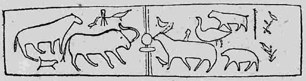 Шаманская дощечка с изображением мамонта