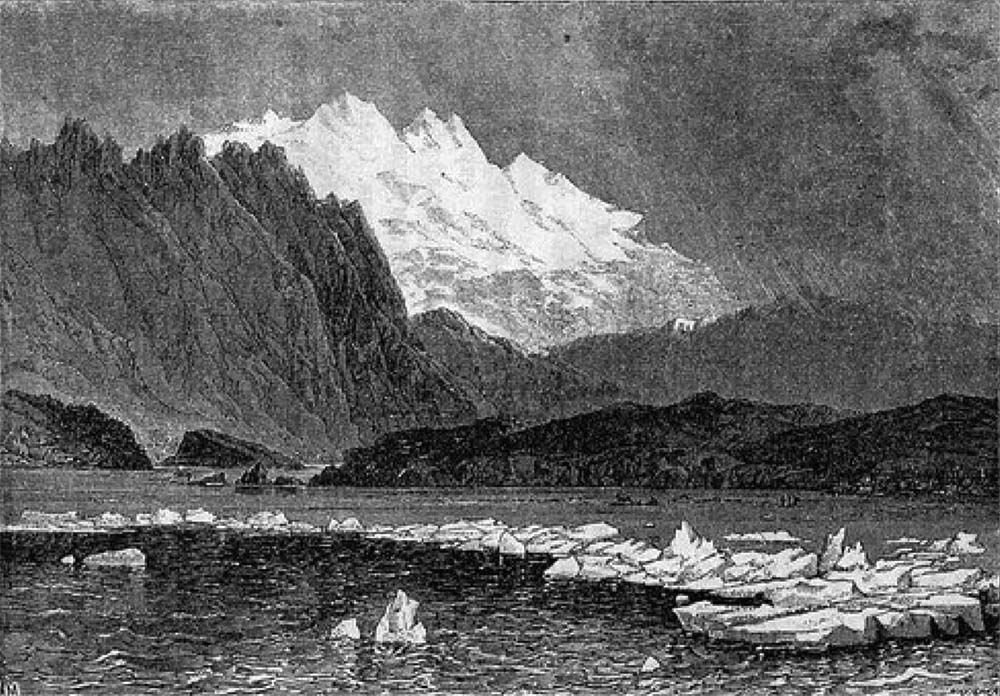 Гравюра «Озеро Байкал зимой» из «Рассказы о Восточной Сибири...»