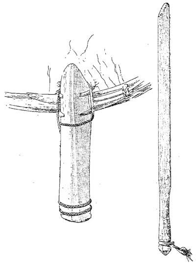 Рукоятка бубна и колотушка