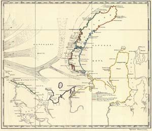 Исследования Новой Земли - карта