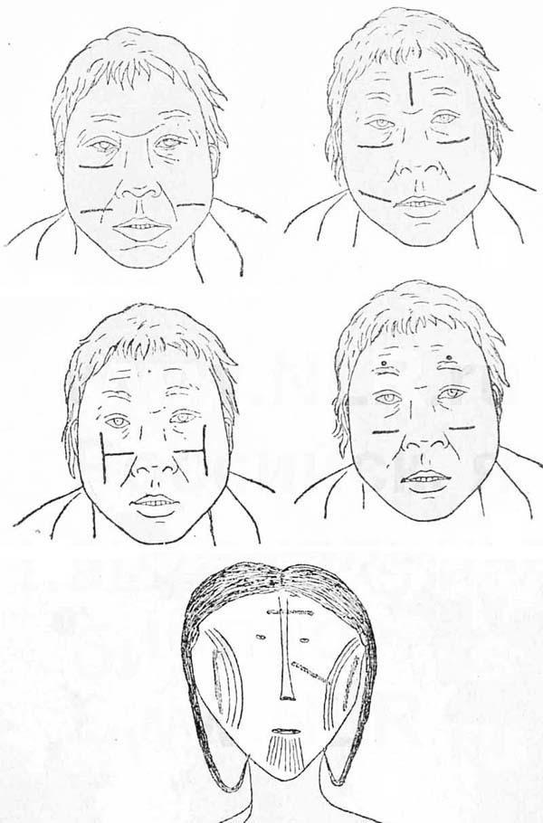 Образцы разрисовки лица