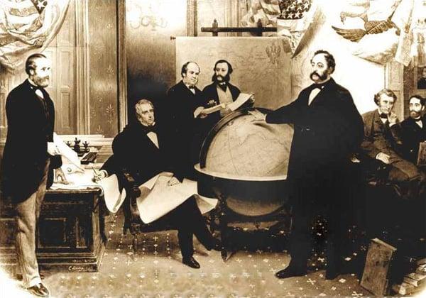 Подписание договора о продаже Аляски.Аляски. © Emanuel Leutze (d. 1868)