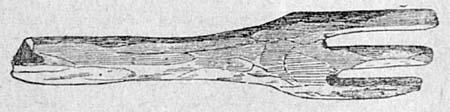 Деревянное изображение руки, употребляемой при жертвоприношениях