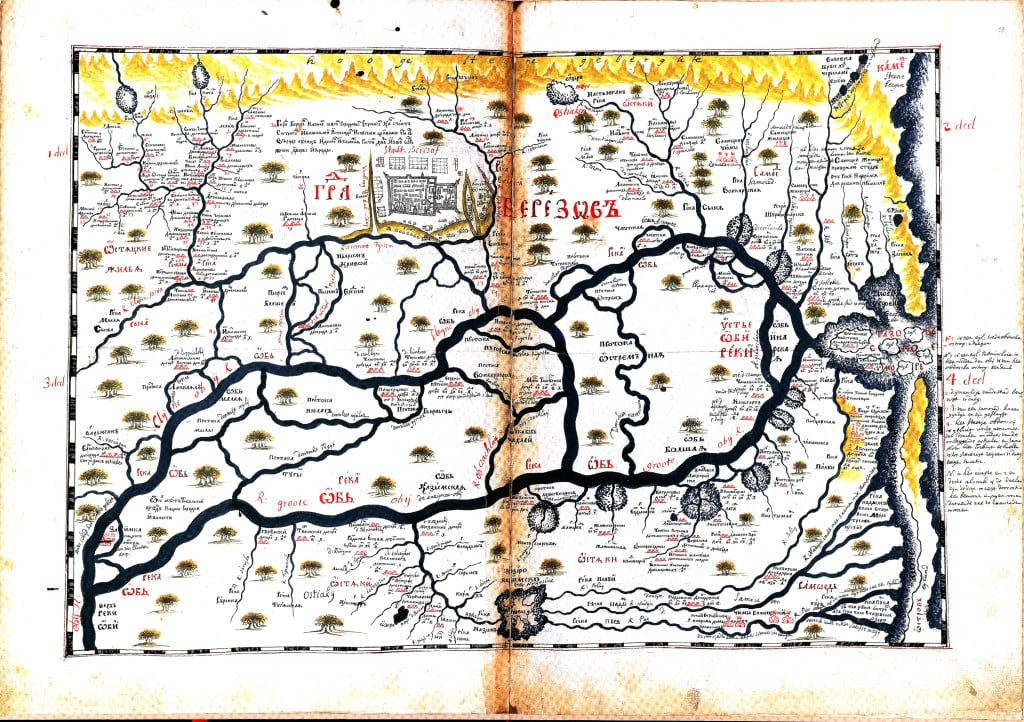 Карта города Березов