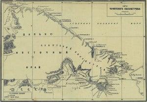 Карта Чукотского полуострова